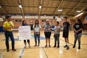 Campers give presentation