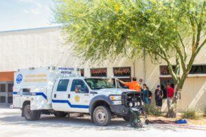 Southern Arizona Rescue Association parked outside CTE