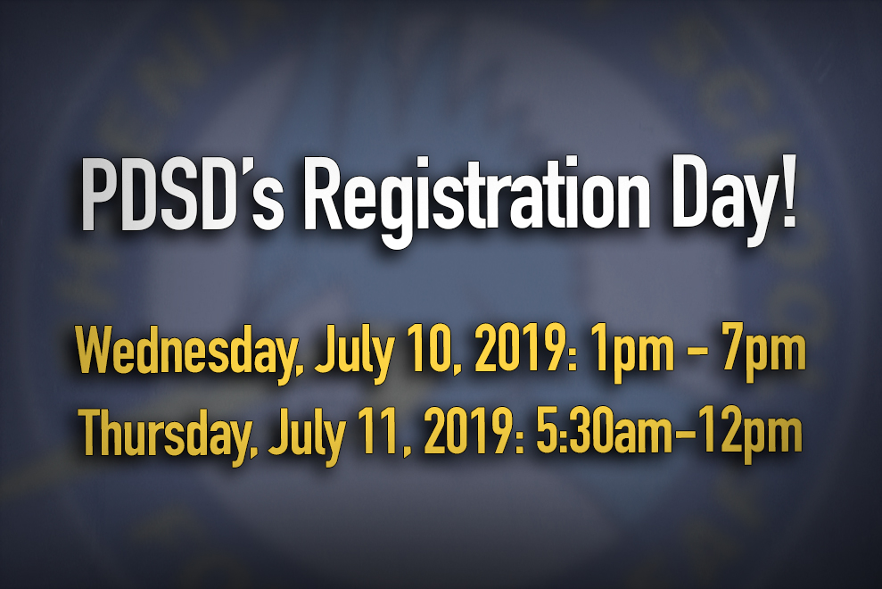 PDSD's Registration Day!