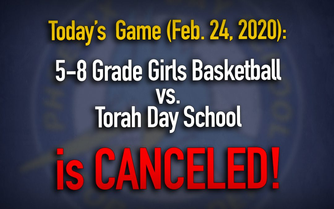Today's Game Canceled!