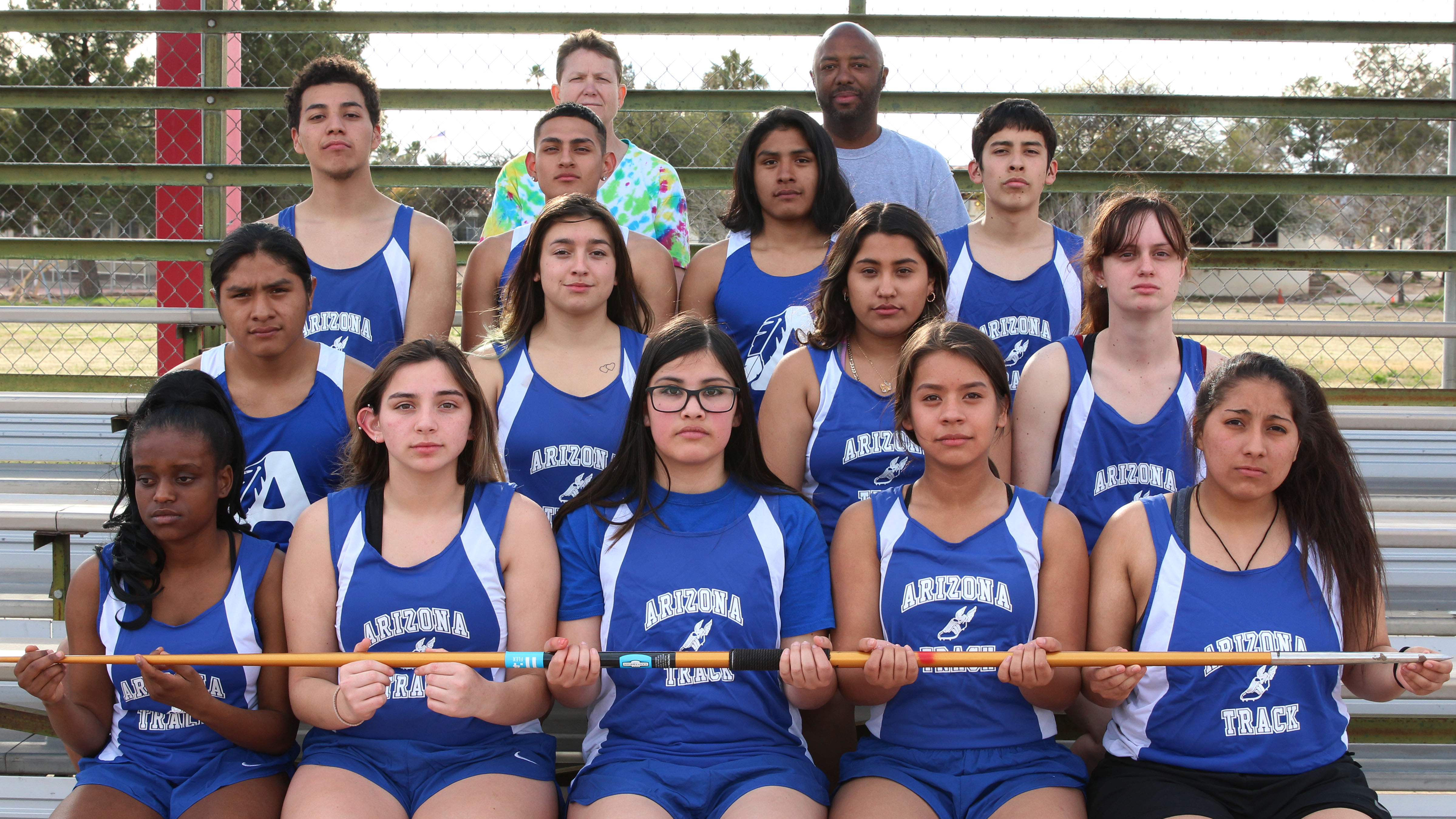 Group photo of the high school track and field team 2019.