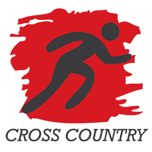 Image of cross country graphic showing an avatar running