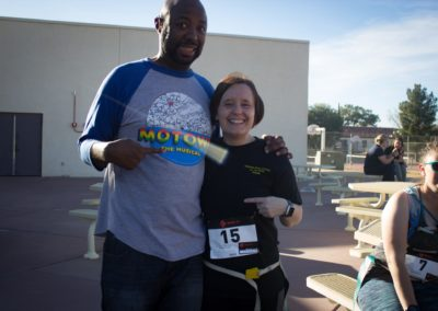 Gerald Brown and Kelly Creasy pose for the camera at the Zombie Race 2018