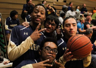 PDSD boys basketball players pose for the camera at the WSBC2018