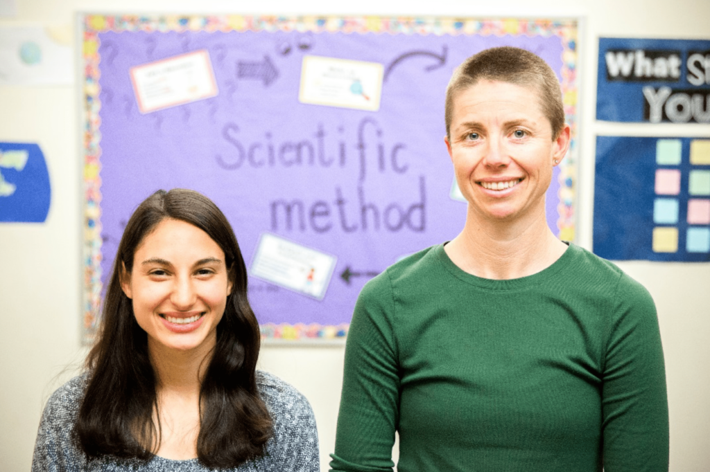 Phoenix Day School for the Deaf Award-Winning Science Teachers Toni Casciolli (l) and Stacy Weiss (r)