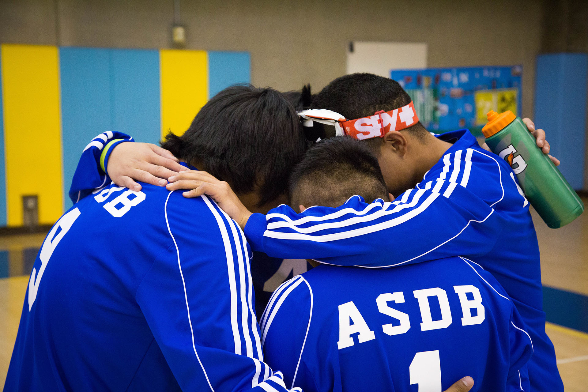 Goalball huddles up