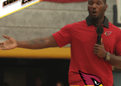 Derrick Coleman speaks at the PDSD rally