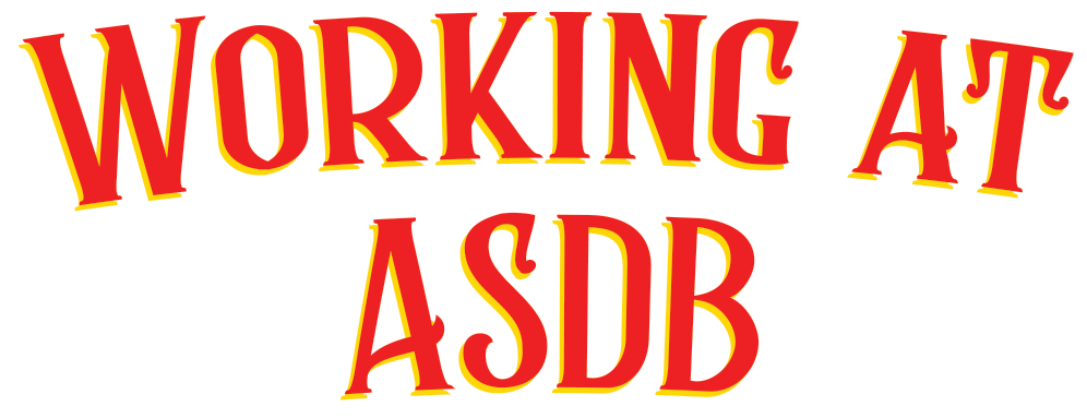 """Working at ASDB"" graphic"