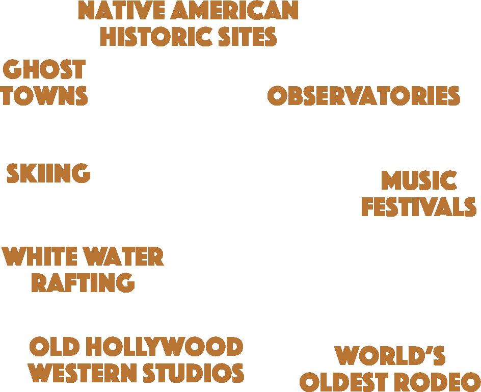 Decorative graphic showing hot spots around Arizona