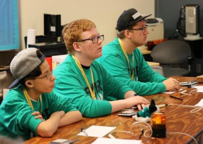 Three boys during academic bowl