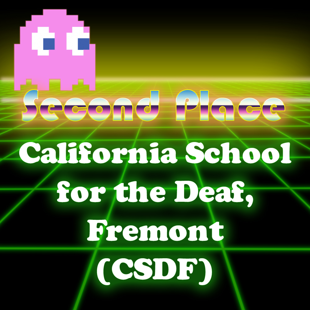 Graphic of second place winners California School for the Deaf, Fremont