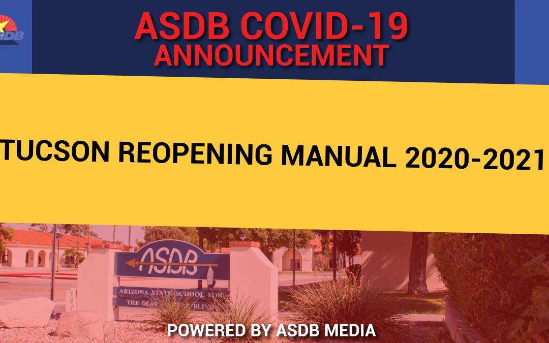 Tucson reopening manual 2020-2021