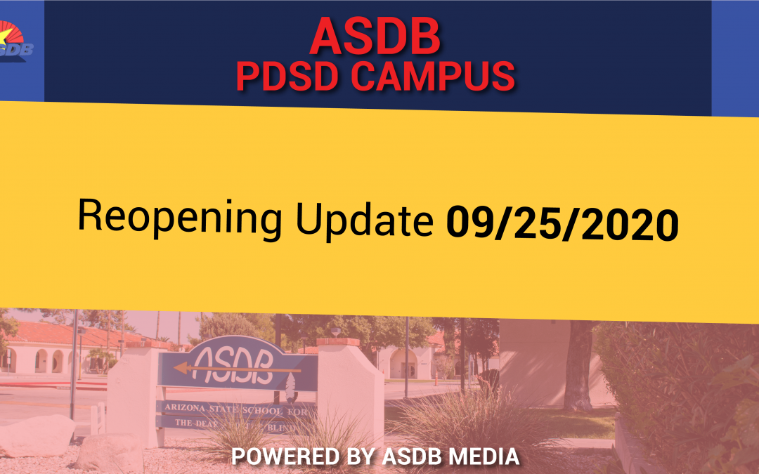 Campus reopening update (09/25/2020)