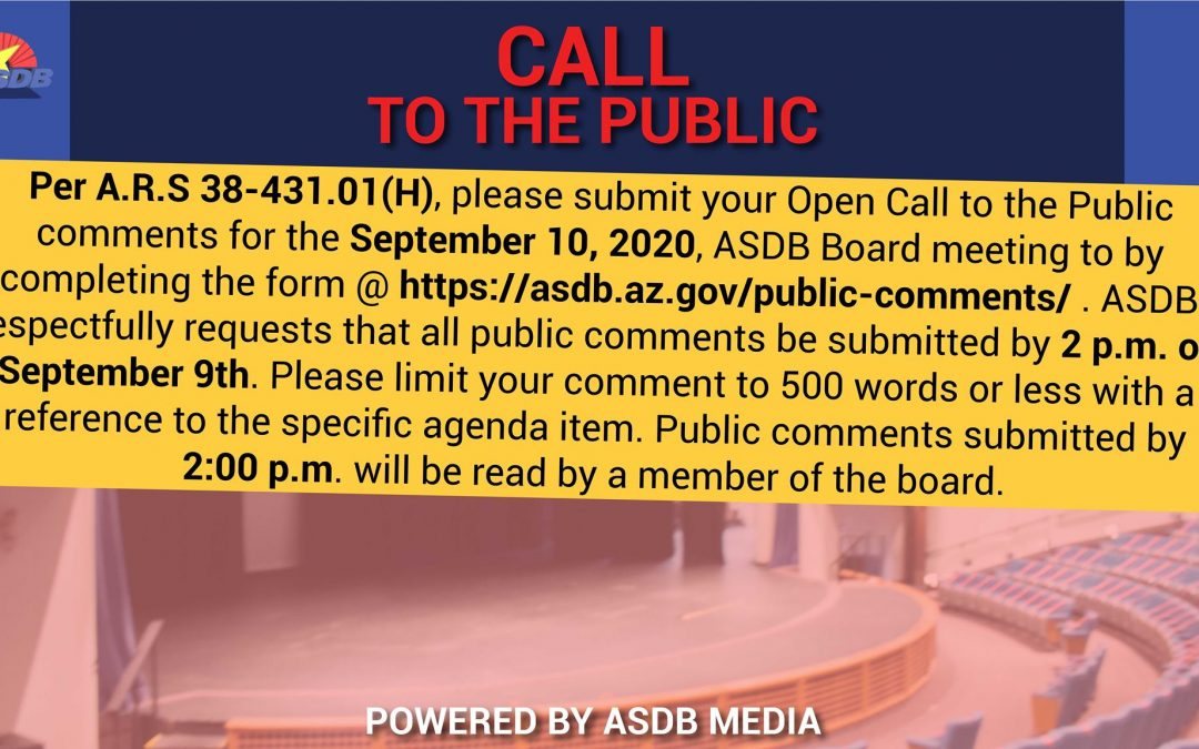 Call to Public 08/10/2020