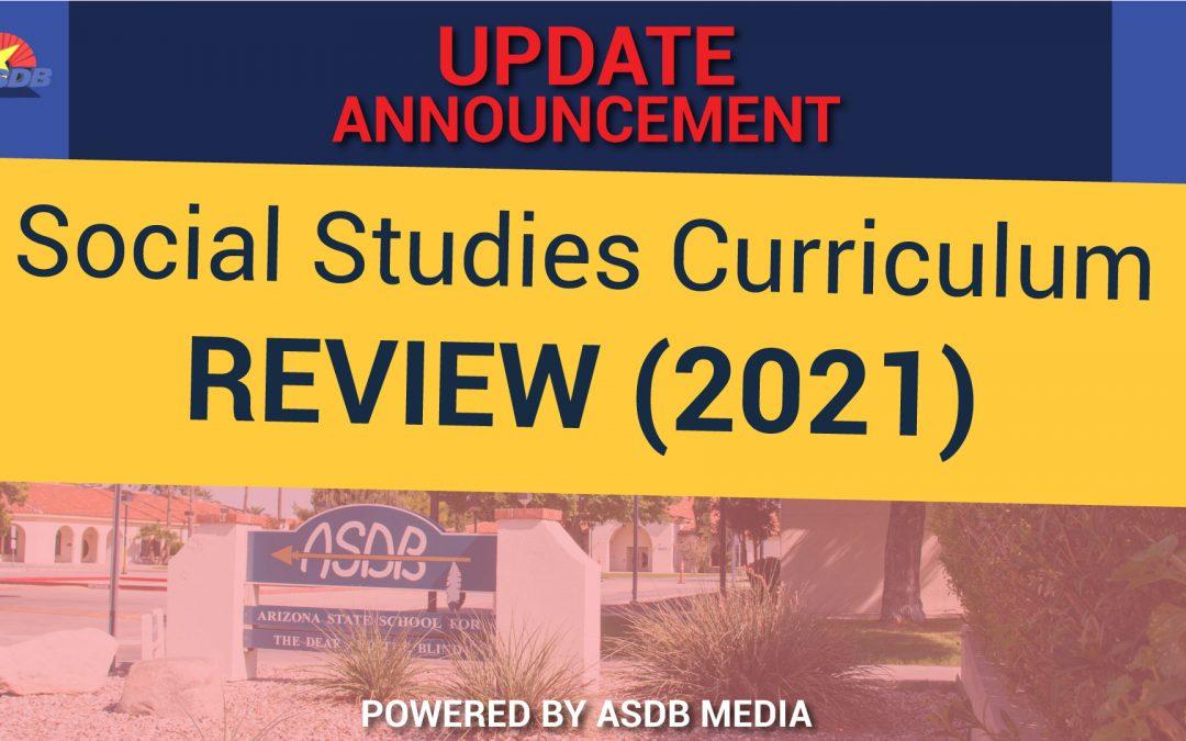 Social Studies Curriculum under review